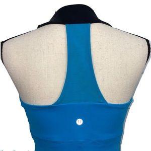 Lululemon Blue & Black Scoop Neck Workout